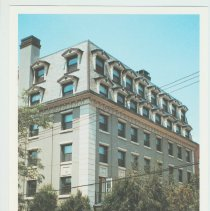 Image of Gallagher Postcard: #27. The 'Union Club' Apartments former social club. Sinatra sang here. Photo by Brian Gallagher. - Postcard