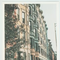 Image of Gallagher Postcard: #28. Majestic Rowhouses Line 8th & Washington St. Photo by Brian Gallagher. - Postcard