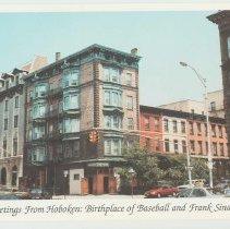 Image of Gallagher Postcard: #30. Elysian Tavern & Hoboken Elks club on 10th & Washington St. Photo by Brian Gallagher. - Postcard