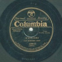 Image of Record: O Susanna. By Stephen Foster. Dan Hornsby Trio. ca. 1927. - Record, phonograph