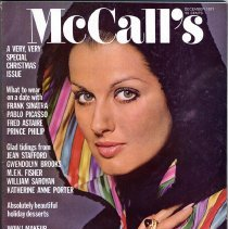 Image of McCall's Magazine, December, 1971, Vol. XCIX, No. 3. Sinatra mention on cover and image in article on page 103. - Magazine