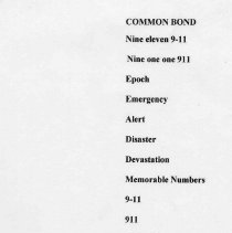 Image of Poem 2: Common Bond