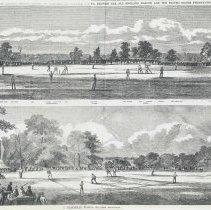 Image of Folder of research materials 1859 baseball match in Hoboken, ken, 1859. - Documents