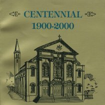 Image of Souvenir book issued on the Centennial of the Parish of St. Ann, Hoboken, 2000. - Booklet, Souvenir