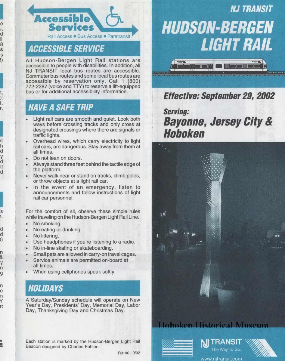 Hudson Light Rail Schedule