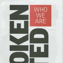 """Image of Political campaign literature  """"Hoboken United"""" """"Who We Are"""" issued on behalf of David Roberts and slate in his campaign for Hoboken Mayor, 2001. - Handbill, Political"""