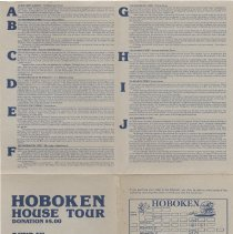 Image of Poster and guide for Hoboken House Tour, 1981. - Poster