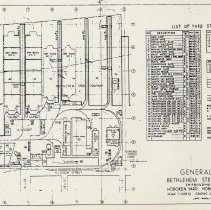 Image of General plan of the Bethlehem Steel Company, Shipbuilding Division, Hoboken Yard, March, 1952. - Map