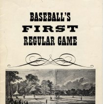 Image of Pamphlet: Baseball's First Regular Game. Commemorating the 100th Anniversary of the Nine-Man Game... Issued 1946 by General Foods, Maxwell House, Hoboken. - Pamphlet