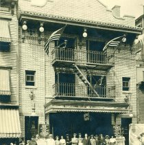 Image of B+W photo of Bishop's Theatre at 106 First St., Hoboken, no date, ca. 1915. - Print, Photographic