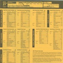 Image of 1999 timetable