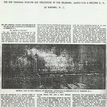 Image of Photocopy: 1972 reprint of 1906 article about Lackwanna Terminal & Ferryhouse, Hoboken. - Article