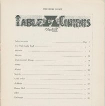 Image of pg 5, table of contents