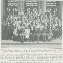 Image of B+W group photo of the Demarest High School June Class of 1932, Hoboken, 1932. - Print, Photographic