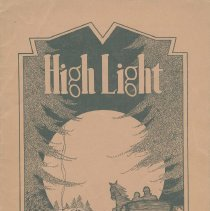 Image of The High Light. Vol. XII, no.2, January, 1933. Demarest High School, Hoboken. - Booklet