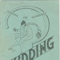 """Image of Program for the play, """"Skidding,"""" presented by the February Class of 1934, A.J. Demarest High School, Hoboken, December 15, 16, 1933. - Program, Theater"""