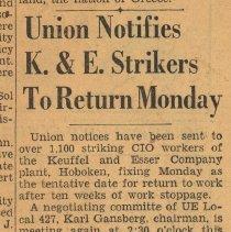 Image of 8: Union Notifies K. & E. Strikers to Return Monday
