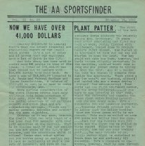 Image of AA Sportsfinder, pg [1] of 2