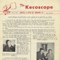 Image of The Kecoscope. Volume 3, No. 70, May 28, 1953. Keuffel & Esser Co., Hoboken, N.J. - Newsletter