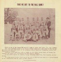 Image of pg 3: photo 1914 baseball team with caption