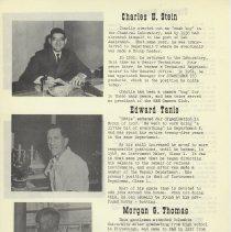 Image of pg 10: Charles E. Stein; Edward Tanis; Morgan G. Thomas