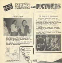 Image of pg 11: flu shots; 1952 softball team; telephone etiquette