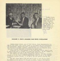 Image of pg 7: Richard R. Kriete; Sam Wood Scholarship