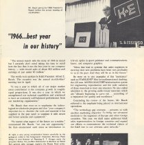 "Image of pg 3: article, ""1966 best year in our history"""