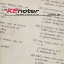 Image of The KEnoter. Dec. 1967. Vol 1, No. 11-12. Keuffel & Esser Co., Hoboken, N.J. - Newsletter