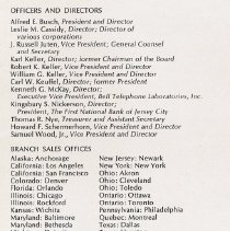 Image of detail page [2] text: Officers, Directors, Office, Plants & Facilities