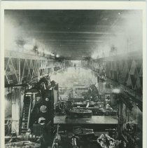 Image of B+W copy photo of the machine shop interior at the W. & A Fletcher shipyard,  Hoboken, no date, ca. 1890-1900. - Print, Photographic