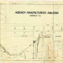 Image of Map of the Hoboken Manufacturers Railroad, ca. 1950, as contained in a real estate offering for Pier 16, Hoboken, N.J., 1951. - Map