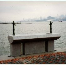 Image of Color photo of sink for washing fish on north side of Pier A Park, Hoboken, 1998. - Print, Photographic