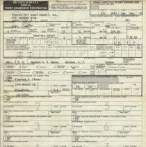Image of Hoboken Girls Scouts Troop Registration form and roster for Cadette Troop No. 419, January, 1974. - Documents