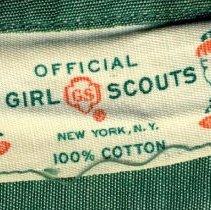 Image of Official Girl Scout uniform, dress, owner not identified, Hoboken, no date, ca. 1930-1950. - Uniform