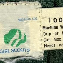 Image of labels sewn in jacket neck