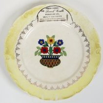 Image of Promotional china plate from Frank Cordts Furniture Co., Hoboken, no date, ca. 1925. - Plate, Dinner