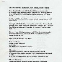 Image of Hoboken P.O. history pg 1/2