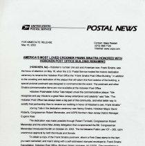 Image of press release, 1st leaf