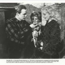 "Image of B+W publicity photo of Tom Hanley as Tommy, Marlon Brando, Eva Marie Saint in film ""On the Waterfront,"" Hoboken, no date, ca. 1953-54, - Print, Photographic"
