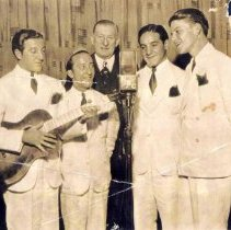 Image of Photo of the Hoboken Four (including Frank Sinatra) on Major Bowes' Amateur Hour radio show, N.Y., (1935). - Print, Photographic