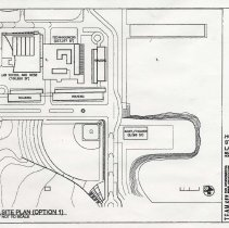 Image of Photocopy of site plan for a proposed Hoboken-Stevens Lab School on the former Maxwell House Coffee plant site, no date, (2003). - Documents