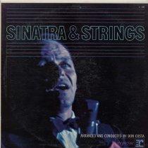 "Image of Record Album, Frank Sinatra: ""Sinatra & Strings.""Reprise. 33rpm. Mono. R-1004.. - Record, Phonograph"