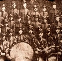 Image of Color print from Hoboken Public Library black-and-white negative of the Hoboken Playground Band, Hoboken, 1917. - Print, Photographic