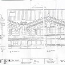 Image of Digital images of seven architectural plans for Hoboken Ferry Terminal Restoration, NY & Hoboken, ca. 2002. - Drawing