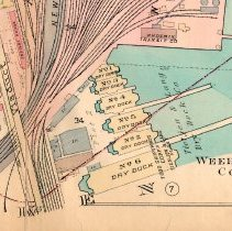 Image of detail bottom right of center: Weehawken Cove, Todd