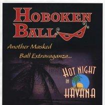 Image of Poster for Hoboken Ball, Hot Night in Havana. Presented by the Hoboken Historical Museum, Hoboken, Saturday, Nov. 1, 2003. - Poster