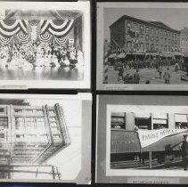 Image of B+W contact sheet of 3 photos of buildings & one of enemy aliens, Hoboken, no date, ca. 1890-1915. - Print, Photographic
