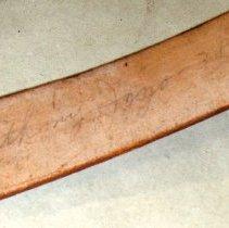 Image of detail inside belt