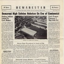 "Image of Digital images of ""Demarestar"", Vol. 4, No. 6, March 23, 1955. Centennial Issue of Demarest High School, Hoboken, newspaper. - Newspaper"